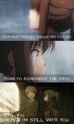 Than to remember you. Anime: Sakurasou no Pet na Kanojo...