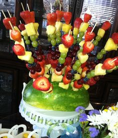 Fruit Kabob I made for a shower last week! Isn't it awesome :)