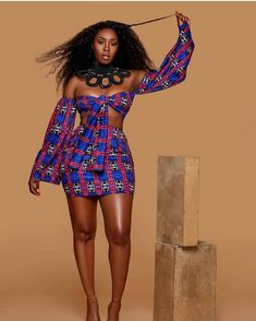Most stylish collection of ankara short gown styles of 2019 trending today, try these short ankara gown styles African Fashion Ankara, African Print Fashion, African Wear, African Attire, African Women, African Dress, African Prints, African Beauty, African Girl