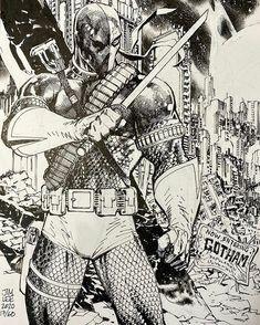 Comic Book Artists, Comic Book Heroes, Comic Artist, Comic Books Art, Comic Character, Character Design, Character Inspiration, Jim Lee Batman, Deathstroke The Terminator
