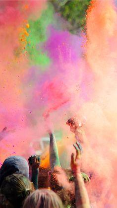 Color Run Powder iPhone Wallpaper