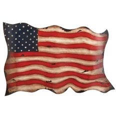 The DecMode Scalloped American Flag Wall Sculpture is made to look like Old Glory snapping in the wind. This patriotic wall art is crafted from solid. Metal American Flag, American Flag Wall Art, Metal Flag, Metal Wall Sculpture, Wall Sculptures, Metal Wall Decor, Metal Wall Art, Metal Work, Vintage Waves