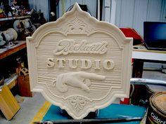 3D carved sign