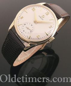 1950s 9ct gold round vintage Omega watch (4097) Vintage Omega, Vintage Rolex, Vintage Watches, Rolex Watches, Watches For Men, Unique Watches, Watch Companies, Omega Watch, 1950s