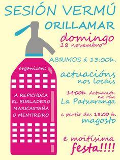SESIÓN VERMÚ  Cartel diseñado para os locais da rúa Orillamar, A Coruña 2012  diseño:pabloandradefoto@gmail.com