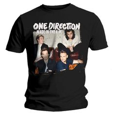 One Direction - One Direction Made In The A.M. Black T-Shirt - X-Large | http://www.onedirectionstore.com/onedirection/onedirection/One-Direction-Made-In-The-A-M-Black-T-Shirt-X-Large/4YPL0000000