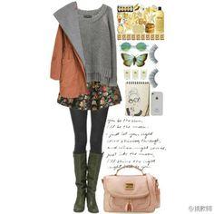 印花裙 Nerdy, Style Me, Casual, Polyvore, How To Make, Hair, Outfits, Clothes, Fashion