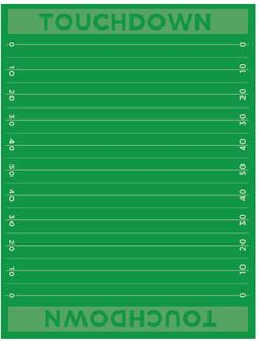 Football Field Free Printable Paper. Cute for decorating a party table and more! Football Banquet, Football Themes, Chiefs Football, Football Boys, Football Field, Football Fever, Office Football, Football Crafts, Valentine Day Boxes