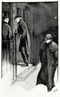 Sydney Sydney Paget, illustration to A scandal in Bohemia, from The adventures of Sherlock Holmes, by Arthur Conan Doyle, London, 1892.  (Source: archive.org)