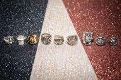 """@lady.rock.crafts on Instagram: """"That weekend feeling ... Making stories/rings for the week ... #💍 #🔨 #spoonring #spoonrings #diyrings #crafts #craftproject #jewelry…"""" Diy Rings, Jewelry Rings, T Shirt Remake, Spoon Rings, Old T Shirts, Rock Crafts, Druzy Ring, Craft Projects, Feelings"""