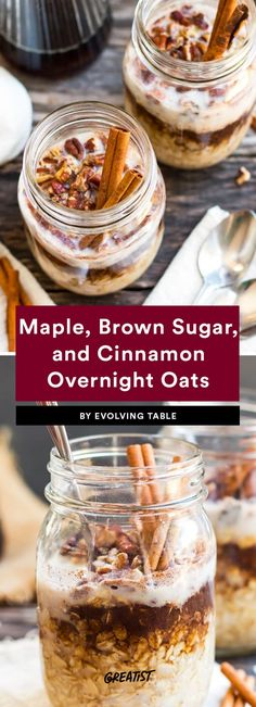 9 Overnight Oats Recipes That Are Basically Fall in a Bowl Take a classic oatmeal flavor on the go by making it the night before and putting it in a mason jar. Overnight Oats Mason Jar, Overnight Oatmeal, Recipe For Overnight Oats, Breakfast On The Go, Best Breakfast, Breakfast Recipes, Breakfast Ideas, Breakfast Casserole, Health Breakfast