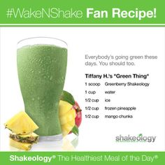 Greenberry Shakeology: Green Thing Recipe / This recipe is soooooo good! www.shakeology.com/enorris701