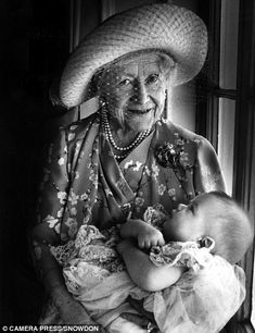 Lord Snowdon took this picture of the Queen Mother with her great-grandson Arthur Robert Nathaniel Chatto on July 17, 1999