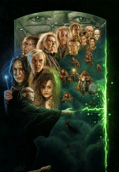 Harry Potter and the Deathly Hallows, Kelvin Nguyen Harry Potter Canvas, Harry Potter Death, Harry Potter Spells, Harry James Potter, Harry Potter Anime, Harry Potter Fan Art, Harry Potter Fandom, Harry Potter Portraits, Harry Potter Movie Posters