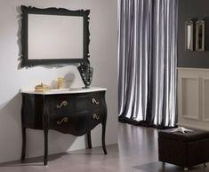 33 Dunkle Badezimmer Design Ideen   Dunkle Badezimmer Design Ideen Schwarz  Weiß Antik Möbel Modern Bathroom