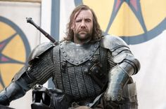 Sandor Clegane. An extremely vile and cruel man. Personal guard of scumbag Prince Joffrey. I loathe him!