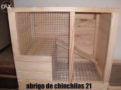 Casota-gaiola abrigo para roedores chinchilas coelhos