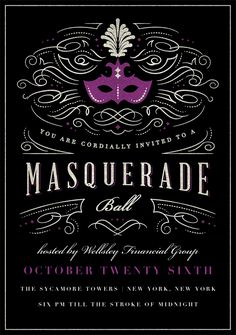 Masquerade Ball by Signature Greenvelope | Greenvelope.com