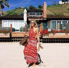 """Pin for Later: Die Urlaubskleider der Blogger kommen von dieser einen Marke Blogger tragen """"Faithfull the Brand"""" im Urlaub"""