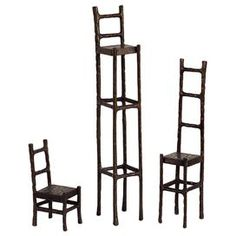 As seen on HGTV's Flipping the Block, Episode 5 – The Guest Room: 3-Piece Chair Statuette Set