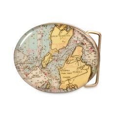 CUSTOM MAP BELT BUCKLE | Keepsake, Map, Jewelry, Men, Belt, Buckle, Travel, Journey, Adventure, Memorabilia, Souvenir, Pants, Handmade, Chart Metalworks | UncommonGoods