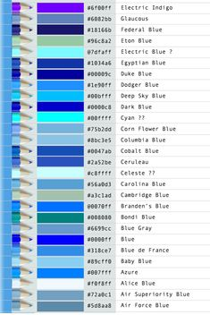 related image colors pinterest search - Shades Of Blue And Their Names
