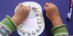 Marshmallow Teeth are a great way to get your kids interested in learning how to brush and floss!  #BrightsideDentalCare
