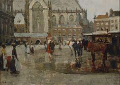 De Haagse School en Barbizon samengebracht in de collectie van Paul Arntzenius, te zien in Museum Gouda. Bovenstaand werk is van George H. Breitner, Gezicht op de Dam (Haagse School), een van mijn favorieten.
