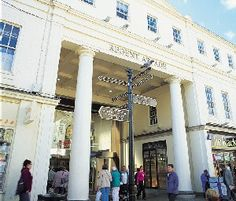 An exterior view of the entrance to Regents Arcade on the High Street.