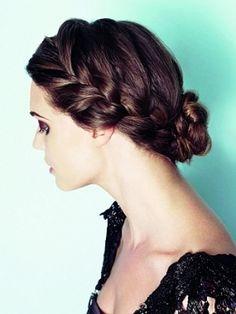 Cute braid updo.