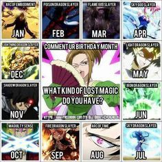 I got Flame God Slayer. not bad but I would prefer Shadow Dragon Slayer Fairy Tail Quotes, Fairy Tail Funny, Fairy Tail Love, Fairy Tail Ships, Fairy Tale Anime, Fairy Tales, Birthday Scenario Game, Birthday Games, Lightning Dragon