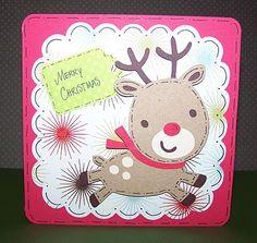 """Cricut - Love this little Reindeer from """"Create A Critter"""" cartridge"""