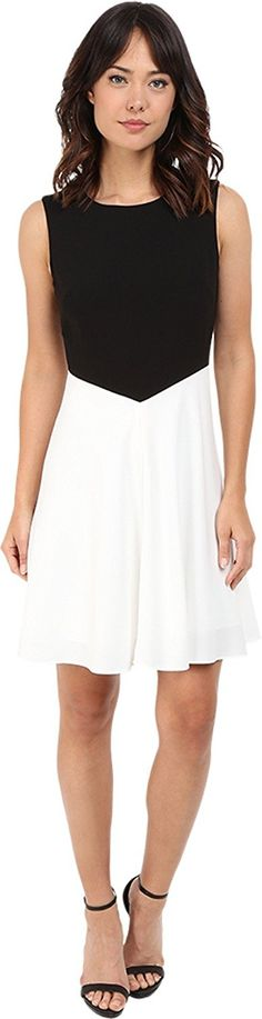 Tahari by ASL Women's Color Block Sleeveless A-Line Dress * Additional details at the pin image, click it  : Dresses