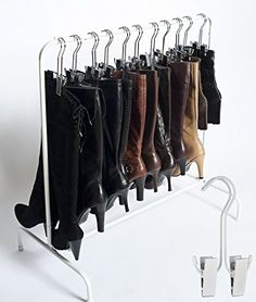 "The Boot Rack--Short (35"") Garment & Boot Rack - Fits in Most Closets (The Boot Rack with 3 White Hangers) Boottique- The Boot Hanger Company http://www.amazon.com/dp/B00EZAUEXY/ref=cm_sw_r_pi_dp_Blwlub1K4MR8Z"