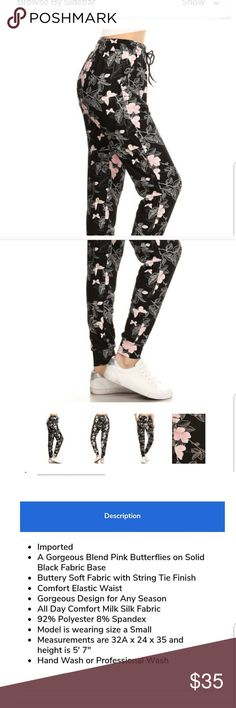 e6fd7ed69ba 2 for  20 Leggings Depot Butterfly Joggers Very soft material. String tie  on the waist