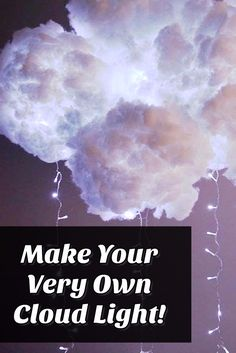 how to make glowing clouds of cotton diy crafts pinterest