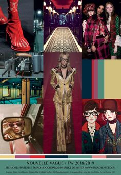 TrendSenses Moodboard Nouvelle Vague- Fall Winter 2018-2019
