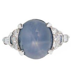 Lambert Brothers Carat Star Sapphire Diamond Platinum Ring For Sale Blue Star Sapphire Ring, Sapphire Diamond, Art Deco Diamond Rings, Platinum Diamond Rings, Fine Jewelry, Jewelry Rings, Jewellery, Cocktail Rings, High Sugar