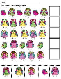 The Centered School Library: Pattern Math Library Center Kindergarten Math, Teaching Math, Math Activities, Preschool Activities, Maths, Preschool Bulletin, Teaching Tools, Owl Classroom, Classroom Freebies