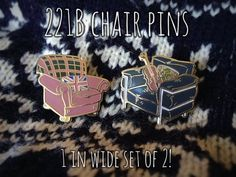 221B Chair Enamel Pins!! (set of 2!)