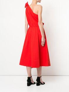 Goen.J one shoulder ruffled dress