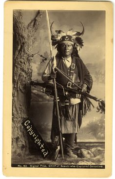 Signor Peso, Chief of scouts who Captured Geronimo