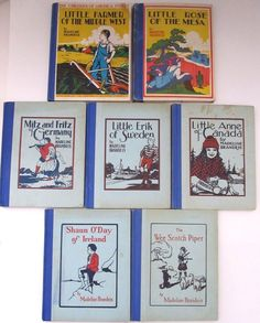 Madeline Brandeis Children of the America and World Ireland 7 Book Set
