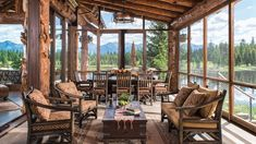 Small Log Homes, Log Cabin Homes, Log Cabins, Montana Ranch, Montana Homes, Log Home Living, Log Home Designs, Cabin In The Woods, Timber House