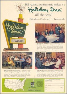 1950s Holiday Inn advertisement for businessmen on the road