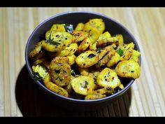 Raw Banana Stir Fry @ Guru's Cooking -- raw=unripe