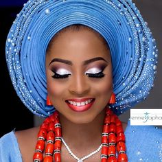 Blue is such a vibrant and cheerful colour! The colour is associated with a lot of positive things – loyalty, cleanliness, peace, serenity, ethereal, infinity and so on. Nigerian brides who decide to wear this hue of colour blue on their big days have definitely made a good choice.The beauty...