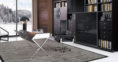 This modern desk features a unique design which is as functional as appealing to your eyes.This modern desk has a ledge in which you can store books papers or Contemporary Office Desk, Modern Desk Chair, Modern Office Desk, Home Office Desks, Office Suite, Desk Chairs, Office Spaces, Office Decor, Executive Office Furniture