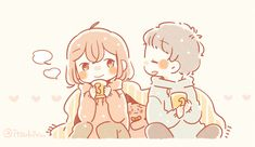 Cute Little Drawings, Cute Kawaii Drawings, Anime Couples Manga, Cute Anime Couples, Anime Chibi, Kawaii Anime, Cute Chibi Couple, Couple Drawings, Cute Images