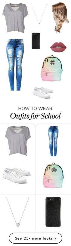 """""""Casual School Look"""" by my-volleyball-world on Polyvore featuring Acne Studios, Lacoste, Links of London and Lime Crime"""